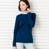 Missy Long-sleeve Crewneck Cotton Jersey Tee