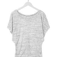 Ladies' Flowy Draped Sleeve Blended Dolman Tee