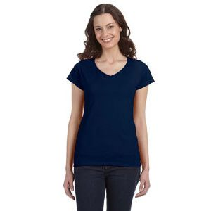 Ladies Softsyle Fitted V-Neck Tee Thumbnail