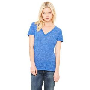 Ladies' Jersey Short-Sleeve Deep V-Neck T-Shirt Thumbnail