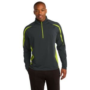 Sport Wick Stretch 1/2 Zip Colorblock Pullover Thumbnail