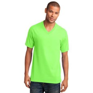 5.4 oz 100% Cotton V Neck T Shirt Thumbnail