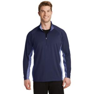 Sport Wick Stretch Contrast 1/2 Zip Pullover Thumbnail