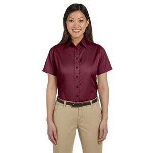 Ladies' Easy Blend™ Short-Sleeve Twill Shirt Thumbnail