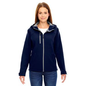 Ladies' Prospect Bonded Soft Shell Hooded Jacket Thumbnail