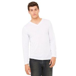 Unisex Jersey Long Sleeve V-Neck Thumbnail