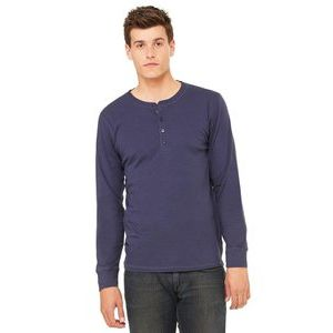 Jersey Long Sleeve Henley  Thumbnail