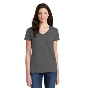 Ladies' 5.3 oz. V-Neck T-Shirt Thumbnail