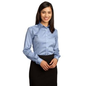 Ladies Non Iron Pinpoint Oxford Shirt Thumbnail