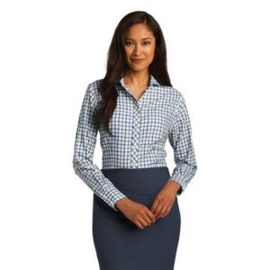 Ladies Tricolor Check Non Iron Shirt Thumbnail