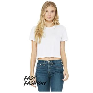 Women's Flowy Cropped Tee Thumbnail