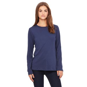 (No Minimum) Ladies' Relaxed Jersey Long-Sleeve T-Shirt Thumbnail