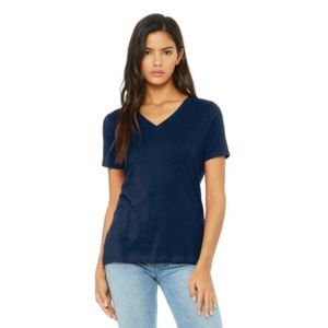 (No Minimum) Women's Relaxed Jersey V Neck Tee Thumbnail