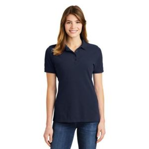 (No Minimum) Ladies Cotton Pique Polo Thumbnail
