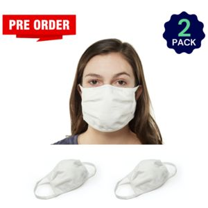 White 2 Pack - Adult - Bulk - Reusable, Washable, & Cotton Thumbnail