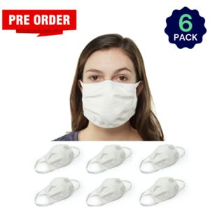 White 6 Pack - Adult - Bulk - Reusable, Washable, & Cotton Thumbnail