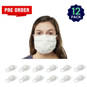 White 12 Pack - Adult - Bulk - Reusable, Washable, & Cotton Thumbnail
