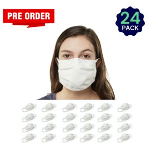 White 24 Pack - Adult - Bulk - Reusable, Washable, & Cotton Thumbnail