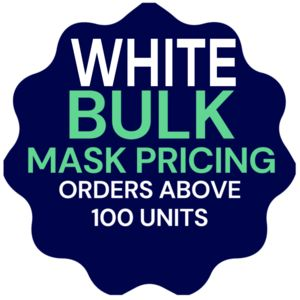 White Bulk Orders - USA Made Facemasks - Breathable, Reusable, Cotton Thumbnail